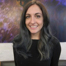 Slate Blue/Grey Ombre Color by Sara for Seagull Hair Salon