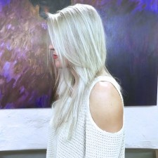 Silver White grey long hair color hair salon nyc 10014 manhattan