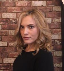 blonde balayage highlights salon colorist layered haircut nyc