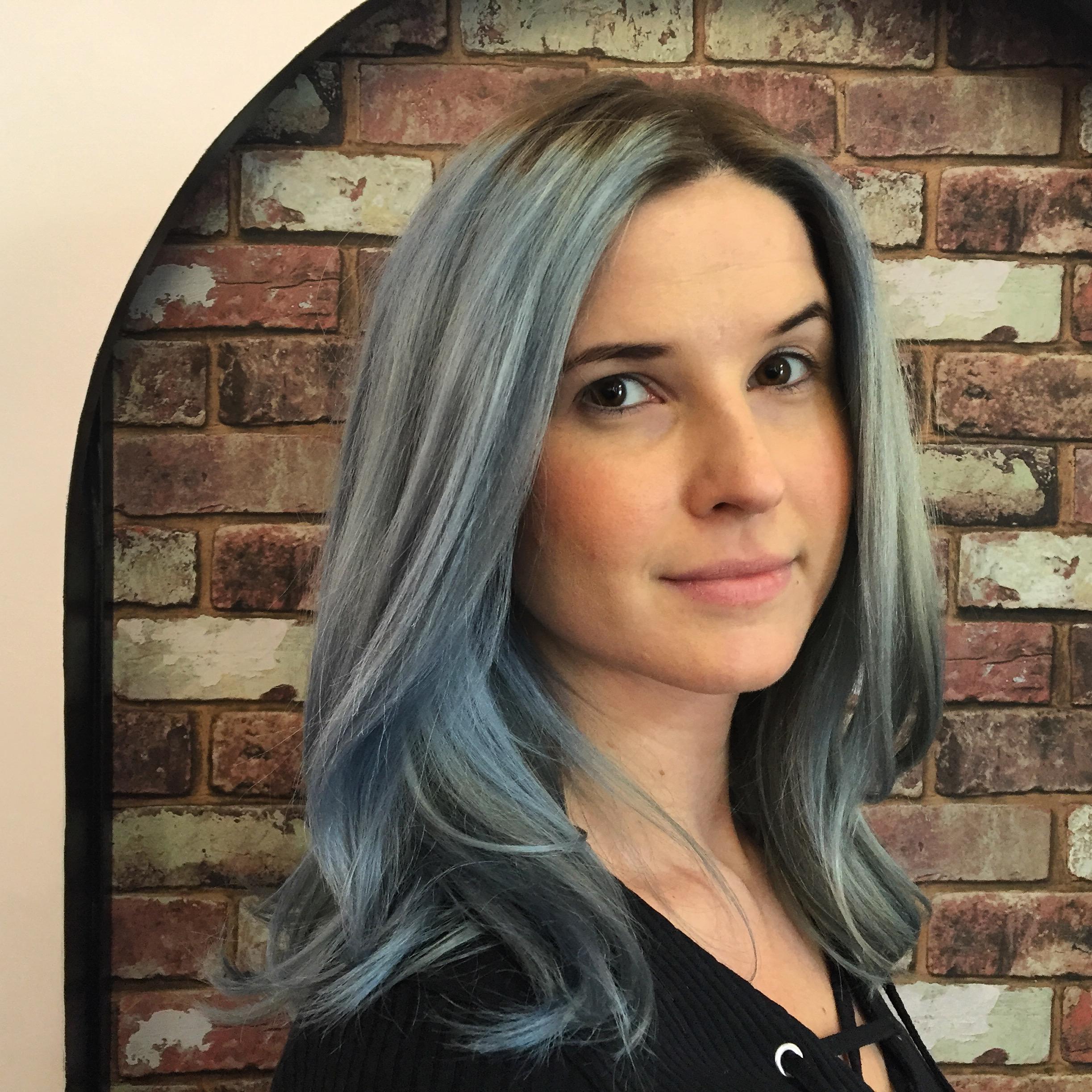 Ocean Pastel Blue Hair Seagull Salon