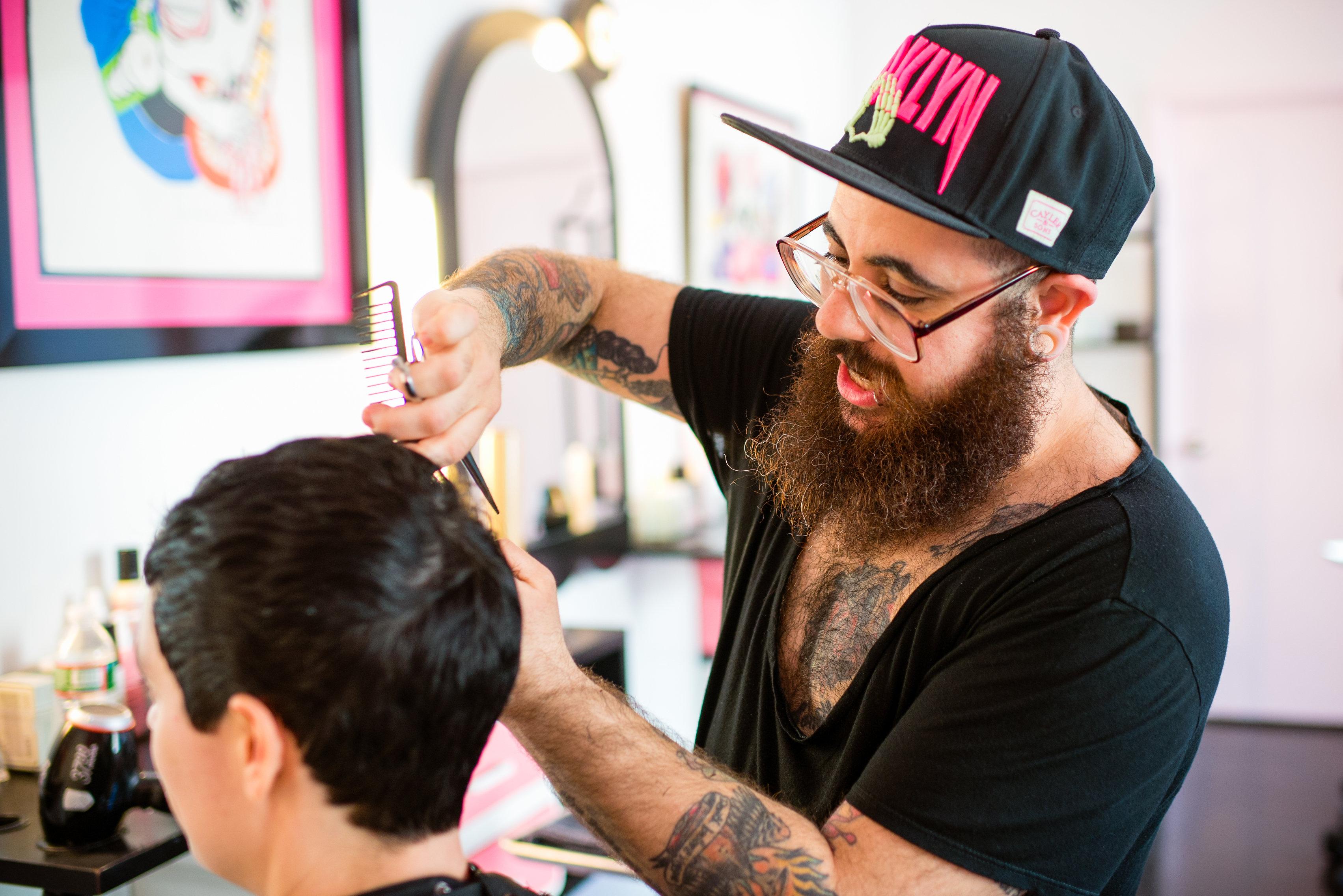 Hair stylist for Seagull Hair Salon Downtown, NYC