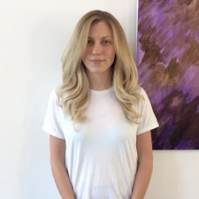 Summery blonde highlights hair salon West Village NYC