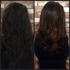 before after balayage brunette hair manhattan nyc 10014