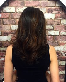 brunette balayage highlights hair salon manhattan 10014