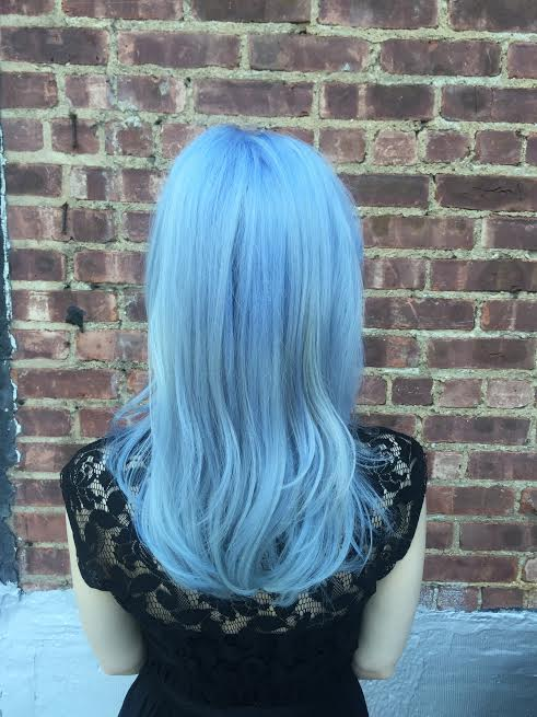 Frosty Blue Hair Color Salon Nyc Manhattan