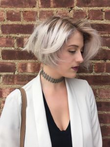 platinum silver hiar color cut seagull salon