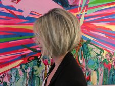 blond hair creative color bob salon stylist nyc