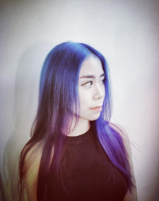 blue violet hair color salon downtown nyc 10014 10013