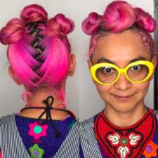 Pink braids hair salon nyc 10013