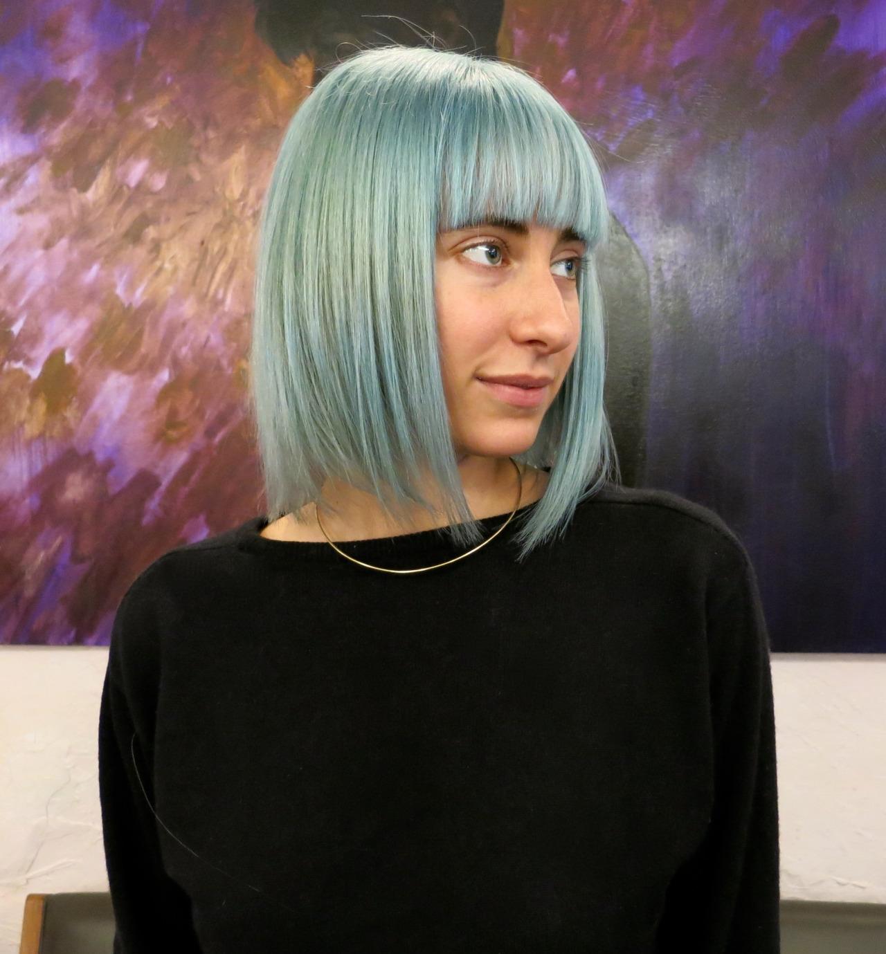 Blue Hair Bangs