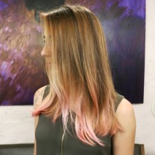 subtle pink ombre seagull hair salon west village manhattan 10014