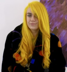 canary yellow long hair color salon nyc 10014