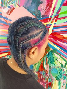 multi color braids hair color creative nyc salon