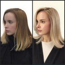before after double process beautiful color nyc salon