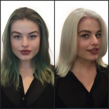 double process color correction before and after hair nyc downtown