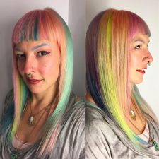 rainbow creative hairr color multitone downtown nyc