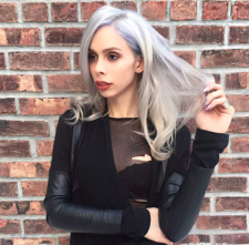 platinum blonde silver hair color salon downtown nyc